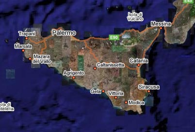 Cartina Sicilia Satellite.Maps Of Sicily